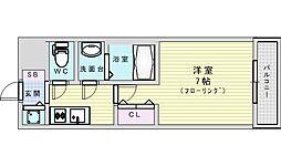 S-RESIDENCE新大阪South 10階1Kの間取り