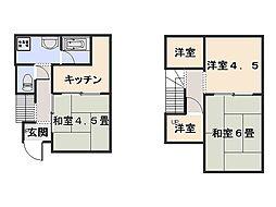 [一戸建] 神奈川県横須賀市金谷2丁目 の賃貸【/】の間取り