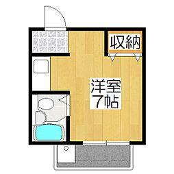 Key House今出川[206号室]の間取り