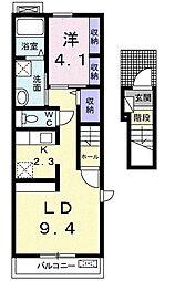 エスポワールIII[2階]の間取り