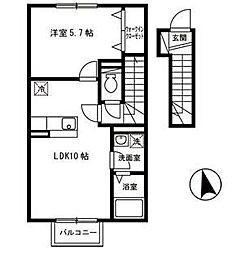 ルミエールタキタ[2階]の間取り