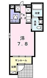 埼玉県狭山市大字東三ツ木の賃貸アパートの間取り