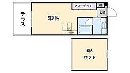 C4 koshien east[303号室]の間取り