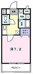 兵庫県神戸市北区谷上東町の賃貸マンションの間取り