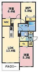 (仮称)東大阪市シャーメゾン岩田町1丁目[101号室号室]の間取り