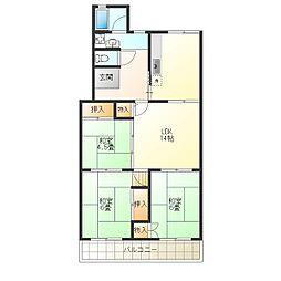 小束山住宅3号棟[5階]の間取り