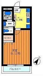 エスポワール赤塚[2階]の間取り