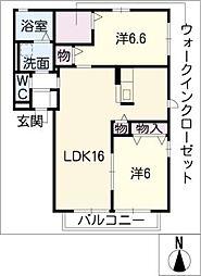 シャトレ[1階]の間取り