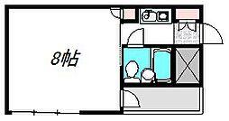 京阪本線 守口市駅 徒歩2分の賃貸マンション 4階1Kの間取り