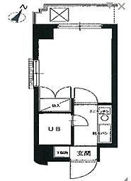 エヴェナール横浜・根岸[4階]の間取り