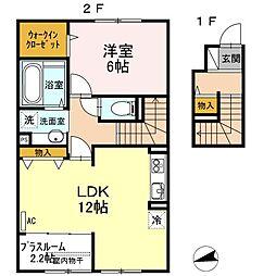 山口県下関市綾羅木本町8丁目の賃貸アパートの間取り