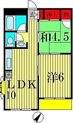 タルミ第3ハイツ[2階]の間取り