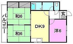 西原マンション[302 号室号室]の間取り