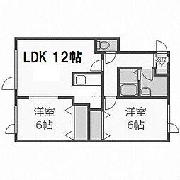 北海道札幌市手稲区星置一条8丁目の賃貸アパートの間取り