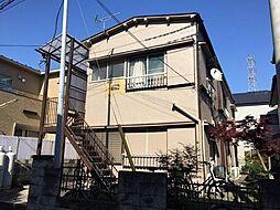 埼玉県草加市西町の賃貸アパートの外観