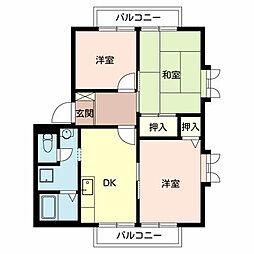 クレスト堺1・2[2階]の間取り