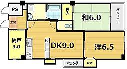 エスポワール桃栄[4階]の間取り