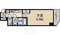 Osaka Metro御堂筋線 大国町駅 徒歩2分の賃貸マンション 13階1Kの間取り