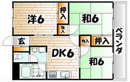 福岡県北九州市小倉南区沼本町1丁目の賃貸マンションの間取り