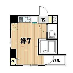 神奈川県横浜市神奈川区泉町14の賃貸マンションの間取り