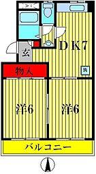 山産マンション[2階]の間取り