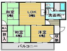 MXナカタニ[3階]の間取り
