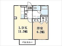 エポナール里[2階]の間取り