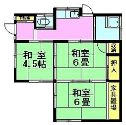 [一戸建] 東京都八王子市椚田町 の賃貸【/】の間取り