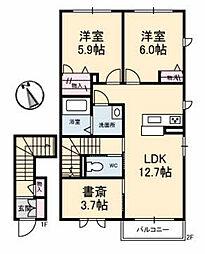 シャーメゾンクレシェンテ[2階]の間取り