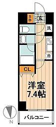 日暮里舎人ライナー 西新井大師西駅 徒歩6分の賃貸マンション 5階1Kの間取り