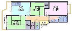 第二藤田マンション[3階]の間取り