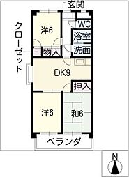 サンマンション[4階]の間取り