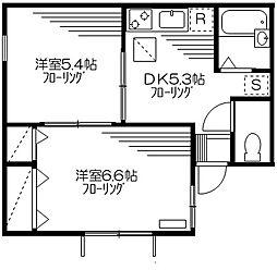 パルコート神楽坂[1階]の間取り