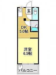 FERRAII番館(フェラ2番館)[4O1号室号室]の間取り
