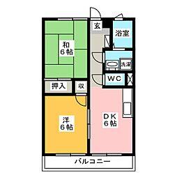 メゾンフルールA[1階]の間取り