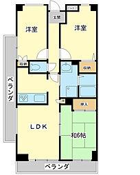 ギャラクシーホーヨー[4階]の間取り