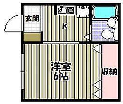 サンセルジュ深井[1階]の間取り