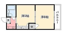 アルカディアマーユII[305号室]の間取り