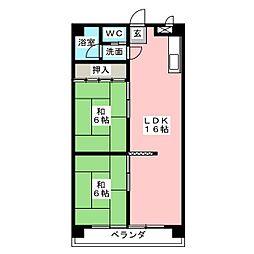 桜台ハイツ[2階]の間取り