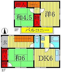 [一戸建] 千葉県松戸市中和倉 の賃貸【/】の間取り