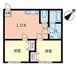第21明智ビル[1階]の間取り