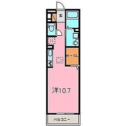 セジュール昭和[102号室]の間取り