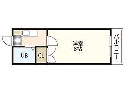 エステート平成[2階]の間取り