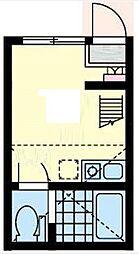 ユナイト横浜パームデール[1階]の間取り