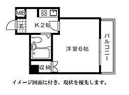 第7片山ビル[705号室]の間取り