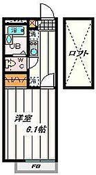 埼玉県さいたま市緑区馬場2の賃貸アパートの間取り