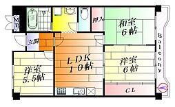 アネスティ千里丘1号館[4階]の間取り