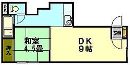 北海道小樽市住吉町の賃貸アパートの間取り