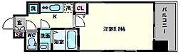 スプランディッド天王寺 7階1Kの間取り