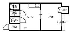 アメニティプレイスコヤナギ[4階]の間取り